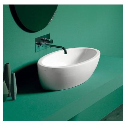 Умывальник-чаша Simas LFT Spazio 63x33 см, без отверстия под смеситель, белый, LFT64