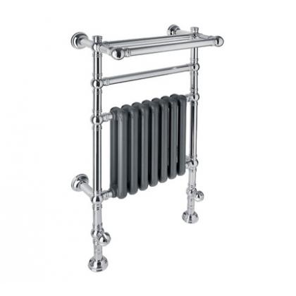 Полотенцесушитель водяной Margaroli Armonia 9-204 хром + черный матовый радиатор RAL 9005
