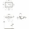 AZZURRA JUBILAEUM раковина со спинкой 50*35см c 1 отв под смеситель - слева , цвет белый-2