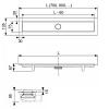 """TECElinus Комплект для монтажа дренажного канала с основой для плитки """"tile"""", минимальная высота монтажа 700 мм -2"""