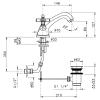 Nicolazzi Teide Four Смеситель для раковины на 1 отверстие, с донным клапаном, цвет: бронза-2