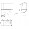 TOTO MH Унитаз моноблок 392x704x410 мм, безободковый, Tornado Flush, CeFiONtect, цвет: белый с сиденьем на выбор-2