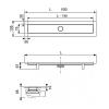 """TECE Комплект TECElinus для монтажа дренажного канала 2 в 1, 800 мм с основой для плитки """"tile"""" и матовой решеткой """"steel""""мин.высота монтажа 95мм-2"""