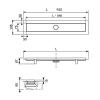 """TECE Комплект TECElinus для монтажа дренажного канала 2 в 1, 900 мм с основой для плитки """"tile"""" и матовой решеткой """"steel""""мин.высота монтажа 95мм -2"""