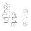 AZZURRA TANDEM Раковина подвесная 44х43см с 1 отв. под смеситель, в комплекте с бельевой корзиной, цвет: белый-2