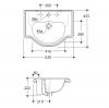 KERASAN Retro Раковина 62х45,5см с одним отв. под смеситель, цвет белый-2