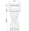 "Gattoni PD Верхний душ 72,5х42х12 см, с  функцией ""тропический дождь"", цвет: хром-2"