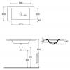 AZZURRA THIN  раковина встраиваемая под столешницу 60х40см, без отв-я для смесителя, цвет белый-2