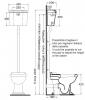 AZZURRA JUBILAEUM унитаз напольный 59*40см слив в стену, с высоким бачком, фурнитурой цвета  хром, СИДЕНЬЕ НА ВЫБОР-2