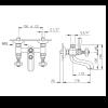 """Nicolazzi Teide Four Смеситель для ванны на 2 отверстия, с переключателем ванна/душ, вывод сверху 3/4"""" (для душ. стойки), цвет: бронза-2"""