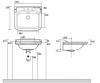 Kerasan Waldorf Раковина керамическая 60х55см, c 1 отверстием под смеситель, белая, цвет заглушки - хром-2
