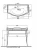 KERASAN Retro Комплект мебели 100см, Цвет: bianco/oro-2