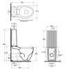 AZZURRA CLAS+ Унитаз моноблок 72*41см слив в стену с бачком и белым сиденьем на выбор-2
